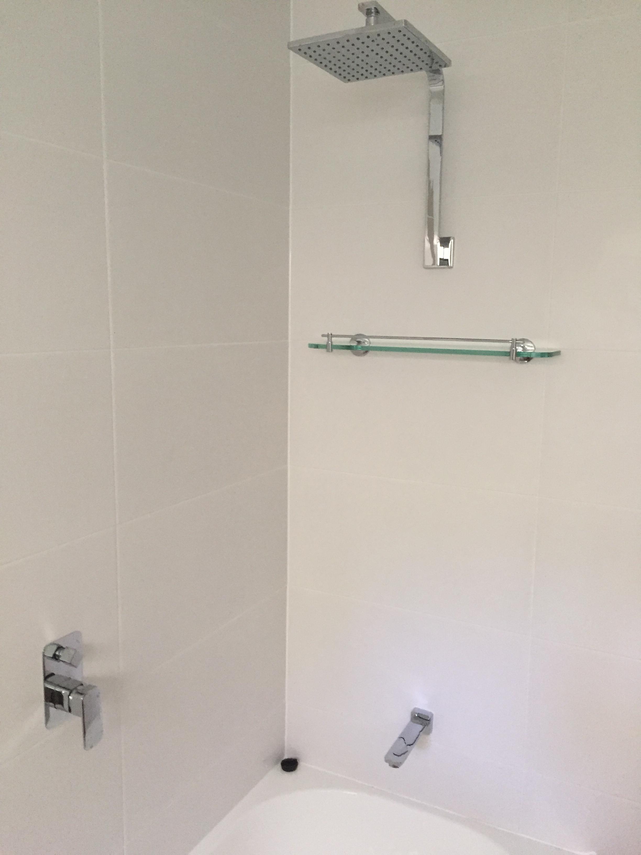 new fixtures in bathroom