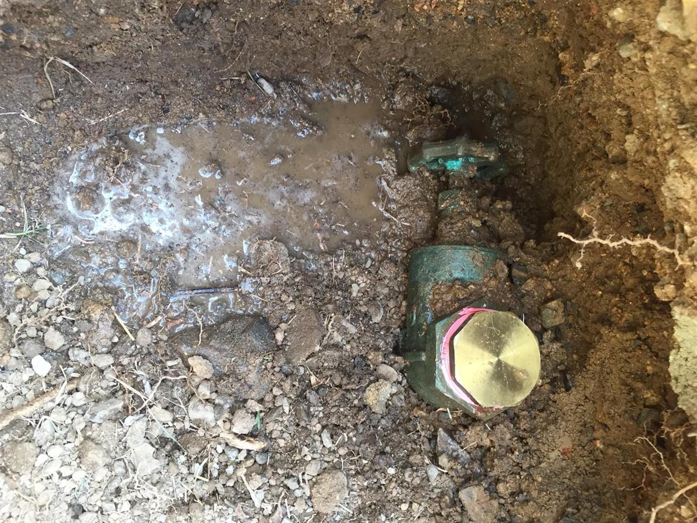 old water meter leaking
