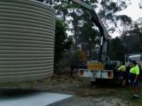 crane positioning tank